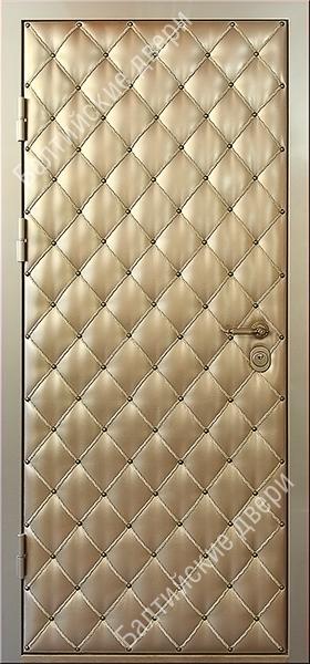металлические двери обшитые искусственной кожей